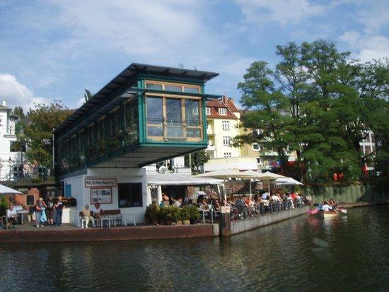 Aussenalster : Et af landgangsstederne