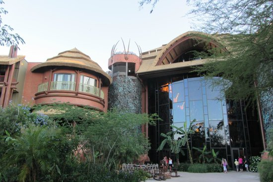 Boma - Flavors of Africa: The beautiful exterior of the Boma at Animal Kingdom Lodge