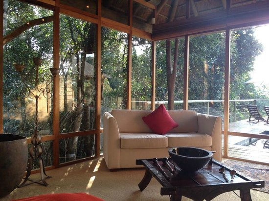 Trogon House and Forest Spa: The view into the forest from our bed
