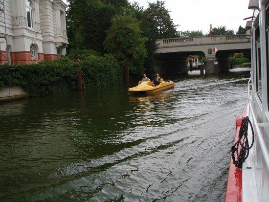 Aussenalster : Udsigt fra båden