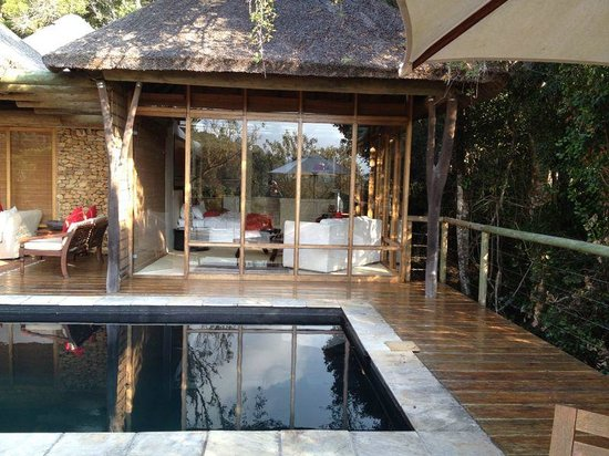 Trogon House and Forest Spa: The view into our room from the pool area