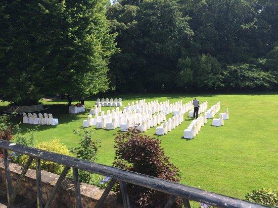 Dunadry Hotel: Outside wedding august 2014