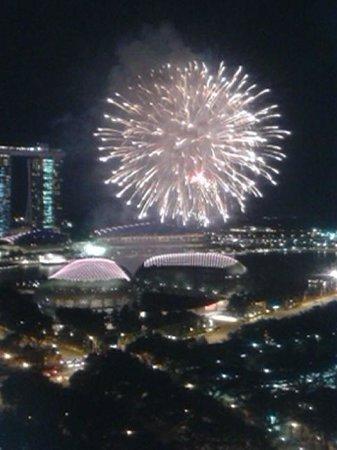 Fairmont Singapore: fireworks