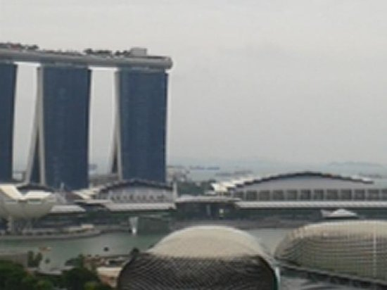 Fairmont Singapore: marina bay from balcony