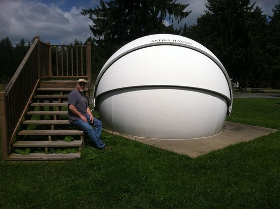 Cherry Springs State Park : One of the star gazing pods available to rent for use
