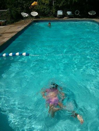 Blue Moon Motel: Kids enjoying the nice warm pool!