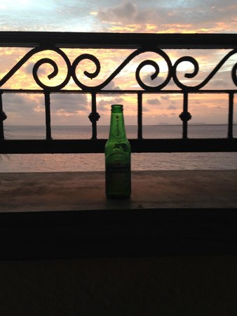 Bellafonte Luxury Oceanfront Hotel : beer at the balcony