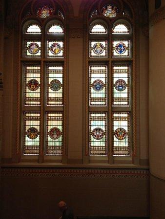 Rijksmuseum Amsterdam: In Rijksmuseum: Stained glass windows