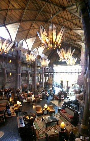 Disney's Animal Kingdom Lodge: Hotel Lobby panaroma