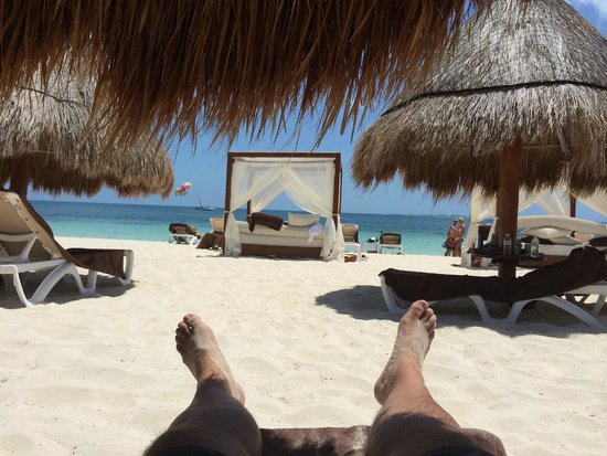 Excellence Playa Mujeres: Beach view