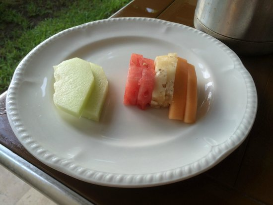 Excellence Playa Mujeres: Room Service Fruit Plate