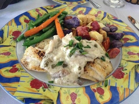 Chef Michael's : Hogfish filet with Ambassador sauce