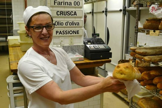 Bricco Suites : Showing off one of the delicious breads..