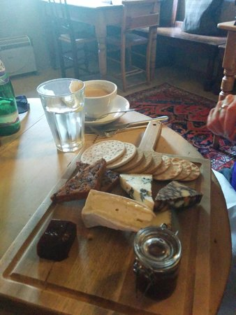 The George Alstonefield : Cheese Board and Coffee plus mineral water