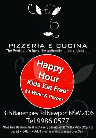 Pizzeria e Cucina: Happy Hour