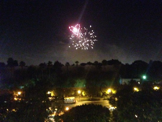 Disney's Grand Californian Hotel & Spa: Fireworks from the room