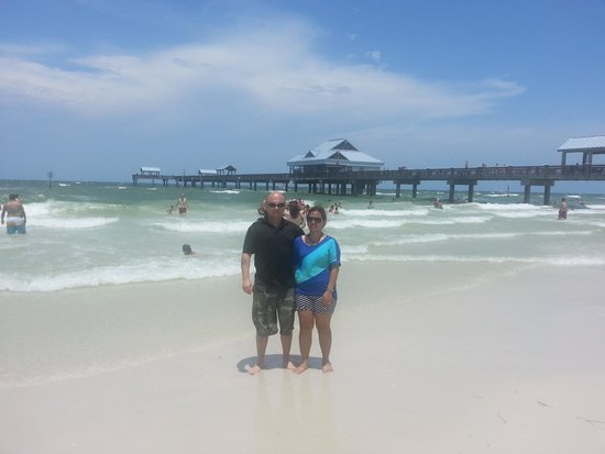 Clearwater Beach: the peer behind us.