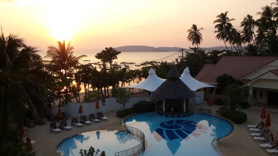 Aonang Villa Resort : sunset view  from room balcony