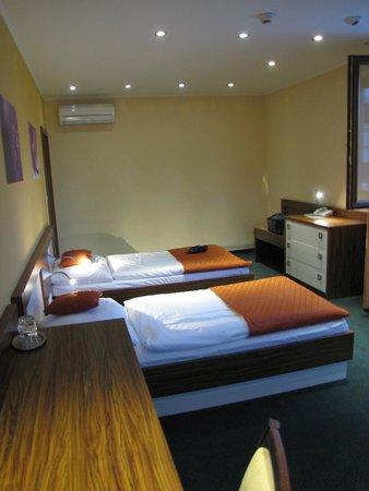 Hotel Viktor: Chambre à deux lits simples