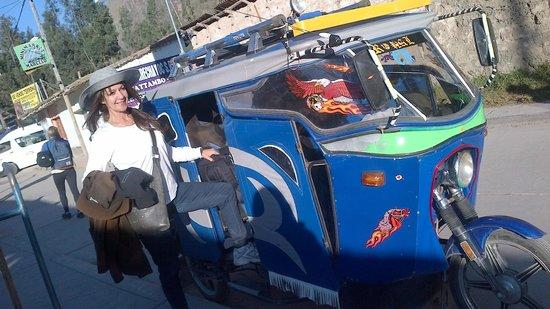El Albergue Ollantaytambo : Llegando al hotel