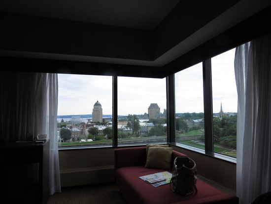 Hilton Quebec: view from the bed