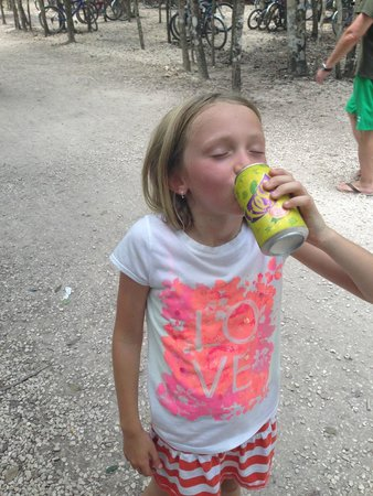 Coba Mayan Village: cold drink at the bottom