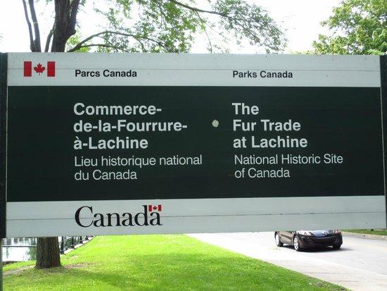 Lachine Fur Trade Museum: Park Entrance Sigh
