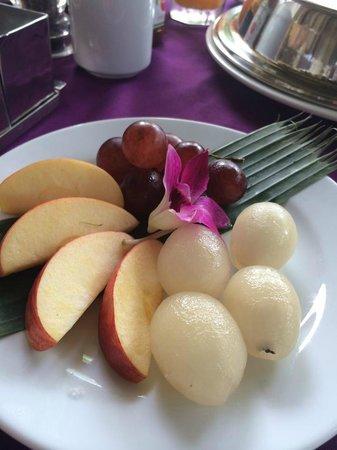 Tango Luxe Beach Villa: fruits locaux