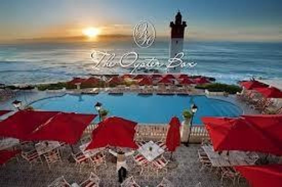 The Oyster Box: The pool leading onto the INdian Ocean