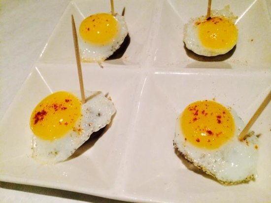 Pamplona Tapas Bar & Grill: Morcilla-Quail Egg