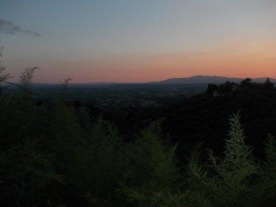 Villa di Papiano: View by night