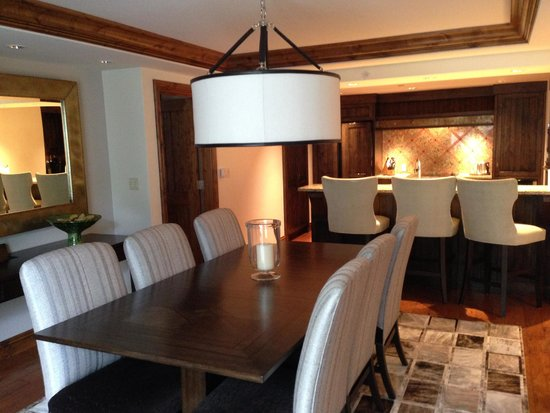 The St. Regis Aspen Resort: Dining Room Toward the Kitchen