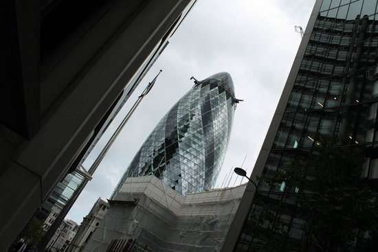 Hairy Goat Photography Tours: Photo of the Gherkin, London taken on the Hairy Goat Mystery tour