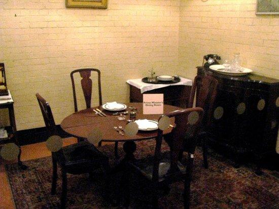 Churchill War Rooms: Churchill's dining area