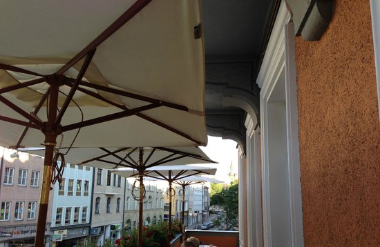 Hotel Torbraeu: View from breakfast dining terrace