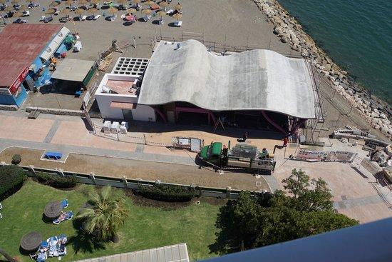 Tryp Guadalmar: Construction face à l'hotel !