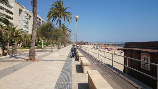 Playa de Palma, El Arenal : Calçadão e ciclovia