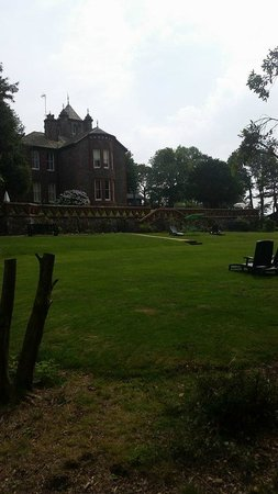 Brockwood Hall: View of main house from lodge