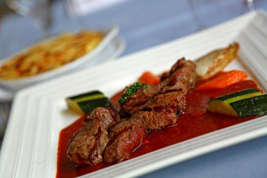 Restaurant du Vieux-Lausanne et Bar Giraf : pointe de filet de boeuf au paprika