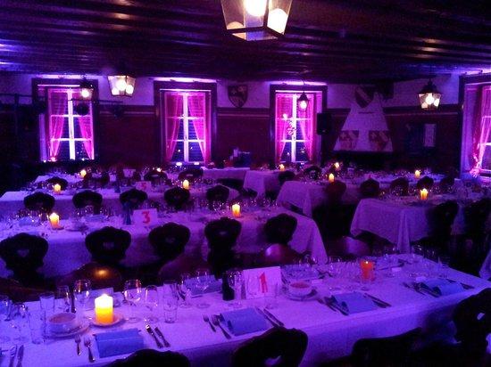 Restaurant du Vieux-Lausanne et Bar Giraf : salle de banquet