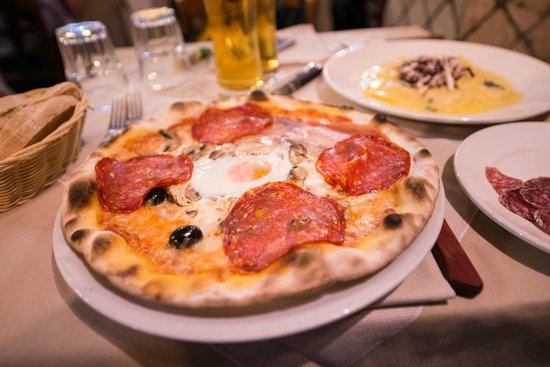 Naumachia: Пицца капричоза с салями