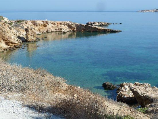 Paros Bay Hotel: La vista dall'hotel