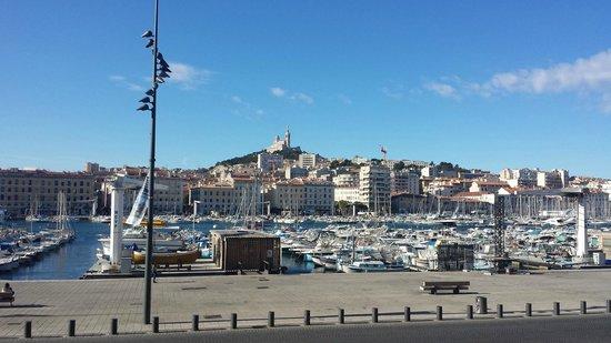 Hôtel La Residence du Vieux Port : View of Notre Dame de la Garde