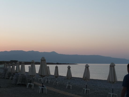 Louis Creta Princess Beach Hotel : The view from the hotel's bach front