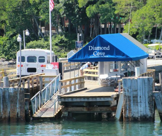 Casco Bay Islands: Diamond Cove, a beautiful spot on the Casco Bay boat tour