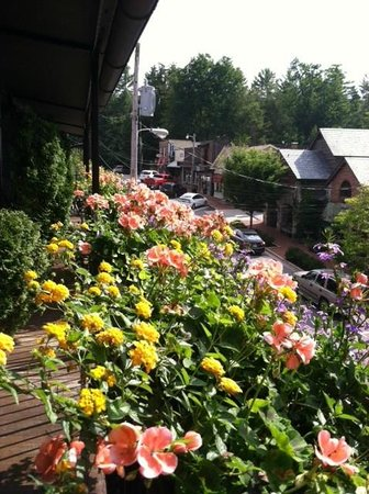 Old Edwards Inn and Spa : Gorgeous Flowers on Balcony
