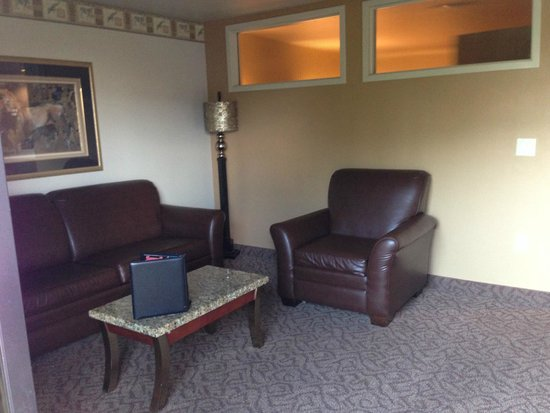 Kalahari Resorts & Conventions: living room with pullout sofa