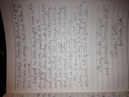 Hacienda Tamarindo: our journal entry from guest room page 3
