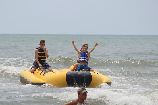 Banana Boat Ride Right In Front Of