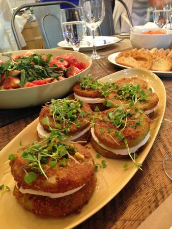 Heirloom Kitchen: Stacked fried green tomatoes